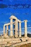 Poseidon Temple Print by George Atsametakis