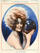 Balls Drawings Posters - 1920s France La Vie Parisienne Magazine Poster by The Advertising Archives