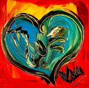Cold Morning Sun Paintings - Heart by Mark Kazav
