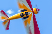 Stearman Prints - 450 HP Stearman Blur Print by Jerry Fornarotto