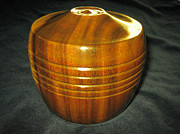 Environment Sculptures - 458 Lathe Turned Ring Box With Lid Was Crafted From Old Reclaimed Wood by Jack Lewis