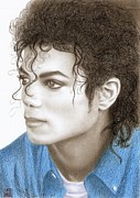 Musicians Drawings - Michael Jackson by Eliza Lo