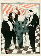 Black Tie Drawings Framed Prints - 1920s France La Vie Parisienne Magazine Framed Print by The Advertising Archives