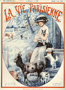 Goat Drawings Posters - 1920s France La Vie Parisienne Magazine Poster by The Advertising Archives