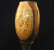 Food And Beverage Sculptures - 477 Handcrafted Wooden Goblet Chalice Goblet titled Simple Elegance by Jack Lewis