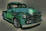 Chevy Trucks Posters - 48 Chevy Truck Poster by Ernie Echols