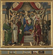 Mary Holding The Christ Prints - Italy, Tuscany, Florence, Uffizi Print by Everett