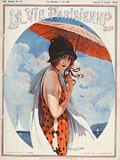 Swimsuits  Swimming Costumes Posters - La Vie Parisienne  1924 1920s France Poster by The Advertising Archives
