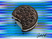 Oreo Metal Prints - 48x36 HUGE OREO COOKIE DREAM  by Robert R SIGNED 1.5 gallery wrap Metal Print by Robert R Abstract Art