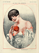 Apples Drawings Posters - 1920s France La Vie Parisienne Magazine Poster by The Advertising Archives