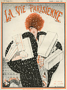Shopping Drawings - 1920s France La Vie Parisienne Magazine by The Advertising Archives
