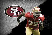 49ers Photo Posters - 49ers Aldon Smith Poster by Joe Hamilton