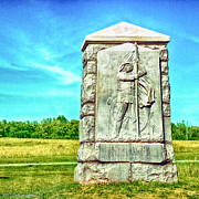 5th Digital Art - 4th Michigan Infantry Memorial Gettysburg Battleground by Nadine and Bob Johnston