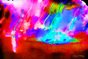 Abstract - 4th of July by Chuck Staley