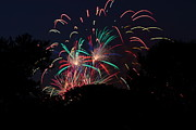 Explode Framed Prints - 4th of July Fireworks - 011310 Framed Print by DC Photographer
