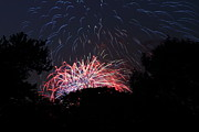 Stars Framed Prints - 4th of July Fireworks - 01135 Framed Print by DC Photographer