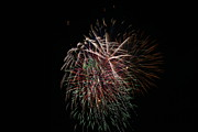 4th Of July Fireworks Print by Alan Hutchins