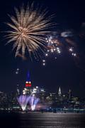 4th Of July Fireworks Print by Eduard Moldoveanu