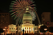 July Framed Prints - 4th of July St Louis style Framed Print by Garry McMichael