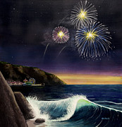 4th July Paintings - 4th on the Shore by Jack Malloch