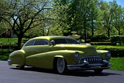 Custom Buick Framed Prints - 1951 Buick Custom Low Rider Framed Print by Tim McCullough