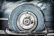 Featured Art - 1956 Ford Thunderbird Spare Tire by Jill Reger