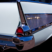 Car Detail Prints - 1957 Chevy Bel Air Custom Hot Rod Print by David Patterson