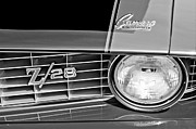 1969 Photos - 1969 Chevrolet Camaro Z 28 Grille Emblem by Jill Reger
