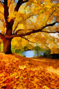 Season Digital Art - A Blanket of Fall Colors by Amy Cicconi