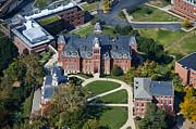 aerials of WVVU campus Print by Dan Friend
