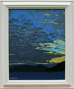 Malcolm Warrilow Framed Prints - After sunset original Framed Print by Malcolm Warrilow