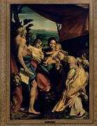 Madonna Posters - Allegri Antonio Known As Correggio Poster by Everett