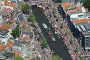 Human Being Prints - Amsterdam Gay Pride Canal Parade 2013 Print by Bram van de Biezen