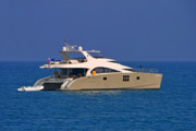 Water Vessels Art - Antibes - Superyachts of Billionaires by Christine Till