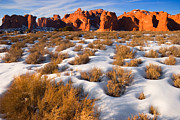 Cold Morning Sun Prints - Arches National Park Print by Utah Images