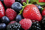 Freshness Photo Posters - Assorted fresh berries Poster by Elena Elisseeva