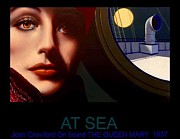 Joan Crawford Paintings - At Sea by George Torjussen