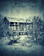Barn In Winter Print by Jill Battaglia