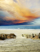 Beach Photograph Metal Prints - Beach view Metal Print by Les Cunliffe
