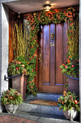Railing Prints - Beacon Hill Doorways Print by Joann Vitali