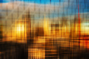 Blurred Abstract Colorful Background Print by Matthew Gibson