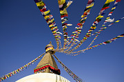 Tibetan Buddhism Art - Bodnath Stupa by Kevin Miller