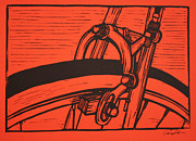 Lino Framed Prints - Brake Framed Print by William Cauthern