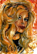 Brigitte Bardot Paintings - Brigitte Bardot by Svetlana Pelin