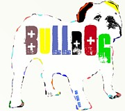 Mixed Media Of Dogs Posters - Bulldog Poster by Brian Buckley
