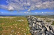 Fanore Framed Prints - Burren Stone Wall Framed Print by John Quinn