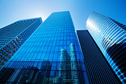Enterprise Metal Prints - Business skyscrapers Metal Print by Michal Bednarek
