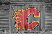 Calgary Flames Framed Prints - Calgary Flames Framed Print by Joe Hamilton