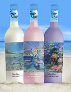 Dolphin Glass Art - Carey Chen fine art wines by Carey Chen
