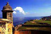 Caribbean Sea Framed Prints - Castillo de San Cristobal Framed Print by Thomas R Fletcher